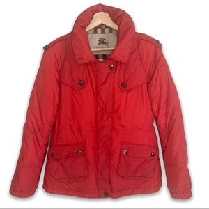 Burberry London 100% Goose Down Red Coat